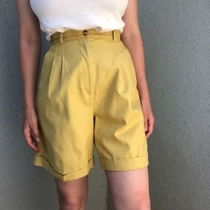 [vintage] citron high waist ramie cotton shorts